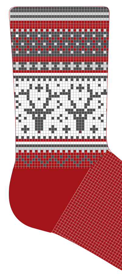 Christmas stockings DIY Pattern knitting kit
