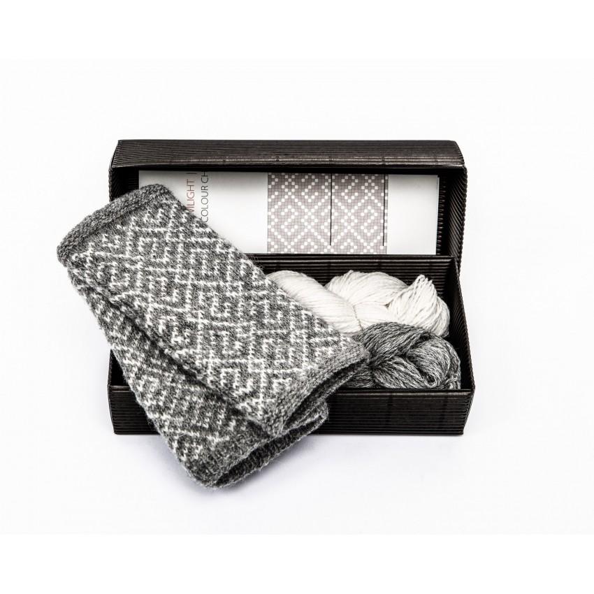 """Fingerless gloves DIY Knitting Kit """"Knit like a Latvian"""" – Twilight 1"""