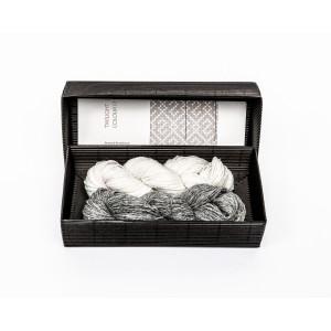 """Fingerless gloves DIY Knitting Kit """"Knit like a Latvian"""" – Twilight 10"""