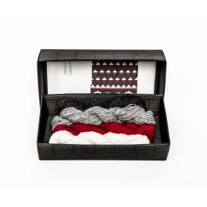 """Fingerless gloves DIY Knitting Kit """"Knit like a Latvian"""" – Twilight 11"""