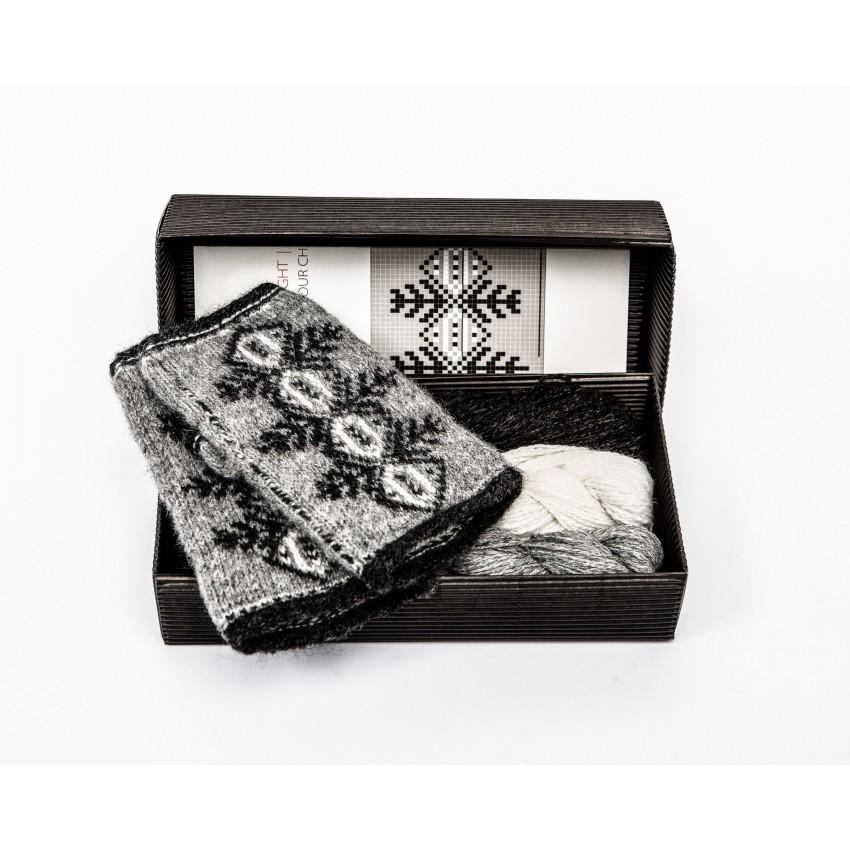"""Fingerless gloves DIY Knitting Kit """"Knit like a Latvian"""" – Twilight 12"""