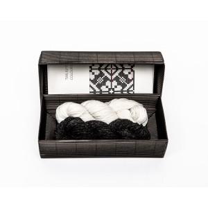 """Fingerless gloves DIY Knitting Kit """"Knit like a Latvian"""" – Twilight 4"""