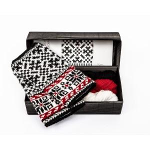 """Fingerless gloves DIY Knitting Kit """"Knit like a Latvian"""" – Twilight 7"""