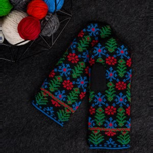 Knitted mittens, Latvian patterns 2