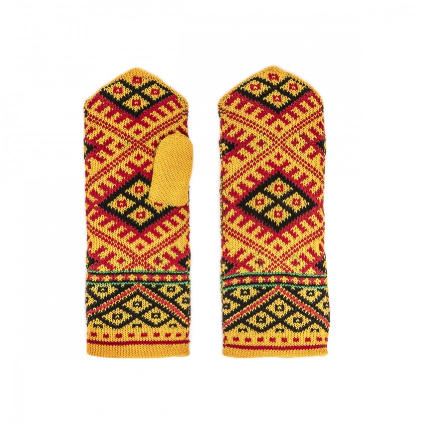 Knitted mittens, Latvian patterns 3
