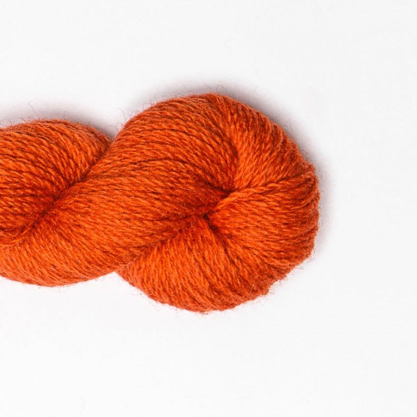 Wool Yarn, 100%, carrot orange