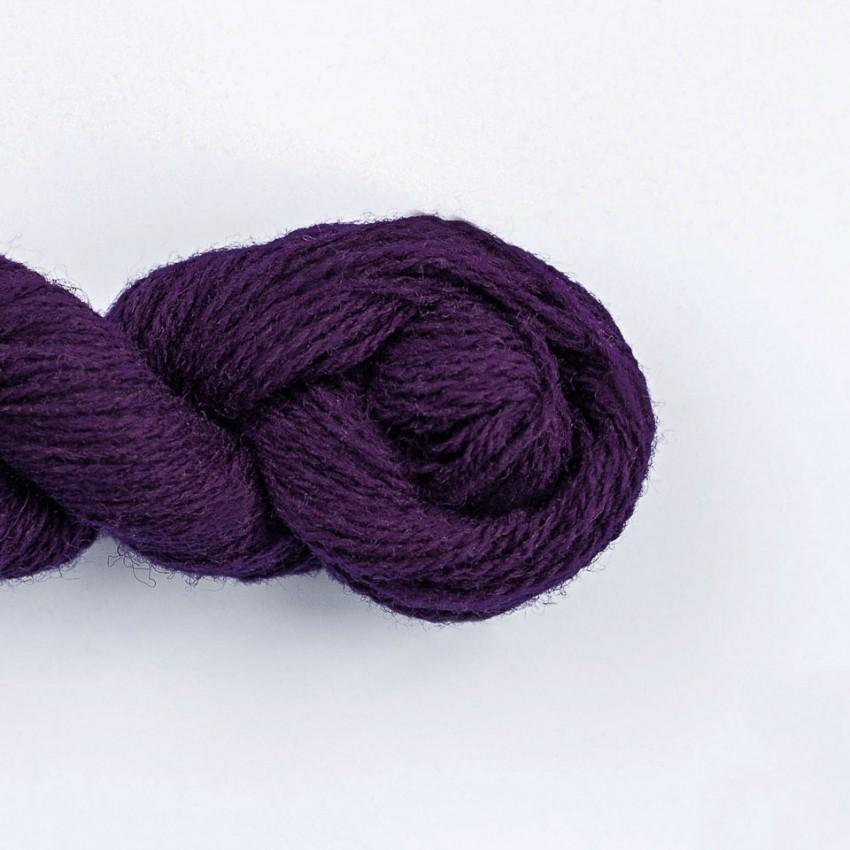 Wool Yarn, 100%, maroon/dark purple