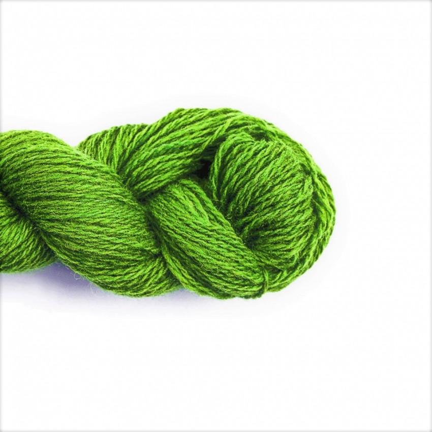 Wool Yarn, 100%, bright green