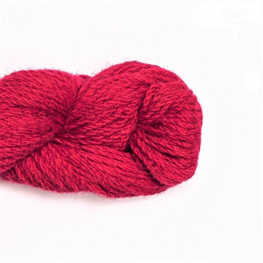 Wool Yarn, 100%, raspberry pink