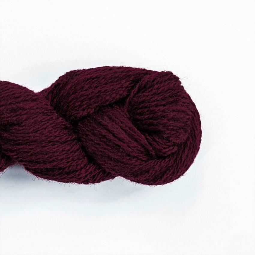 Wool Yarn, 100%, burgundy