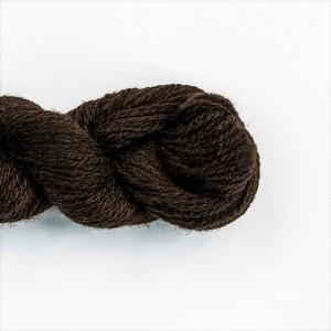 Wool Yarn, 100%, dark brown