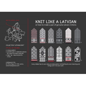 "Latvian Mittens DIY Knitting Kit ""Knit like a Latvian"" – Latvian Gray 1"