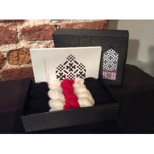 "Latvian Mittens DIY Knitting Kit ""Knit like a Latvian"" – Latvian Gray 11"