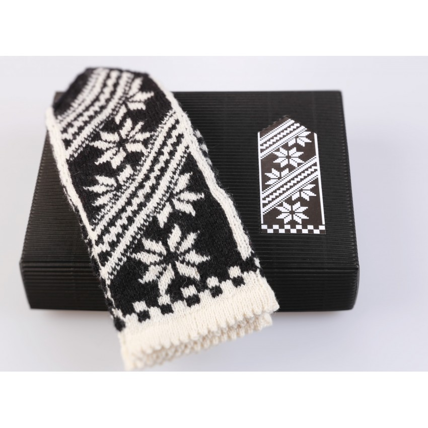 "Latvian Mittens DIY Knitting Kit ""Knit like a Latvian"" – Latvian Gray 12"