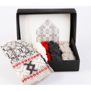 "Latvian Mittens DIY Knitting Kit ""Knit like a Latvian"" – Latvian Gray 2"