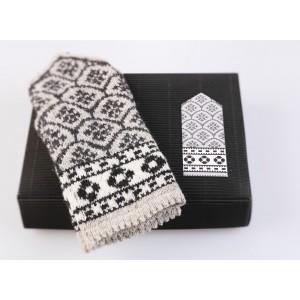 "Latvian Mittens DIY Knitting Kit ""Knit like a Latvian"" – Latvian Gray 3"