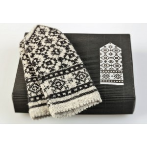 "Latvian Mittens DIY Knitting Kit ""Knit like a Latvian"" – Latvian Gray 4"