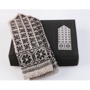 "Latvian Mittens DIY Knitting Kit ""Knit like a Latvian"" – Latvian Gray 6"