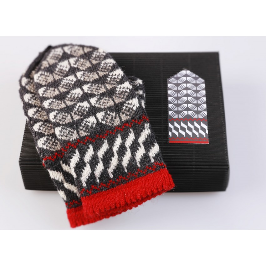 "Latvian Mittens DIY Knitting Kit ""Knit like a Latvian"" – Latvian Gray 9"