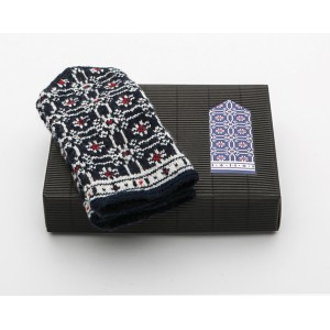 "Latvian Mittens DIY Knitting Kit ""Knit like a Latvian"" – Midnight Flakes 11"