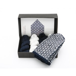 "Latvian Mittens DIY Knitting Kit ""Knit like a Latvian"" – Midnight Flakes 2"