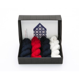 "Latvian Mittens DIY Knitting Kit ""Knit like a Latvian"" – Midnight Flakes 4"