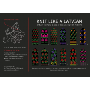 "Latvian Mittens DIY Knitting Kit ""Knit like a Latvian"" - Winter Flowers 1"