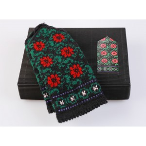 "Latvian Mittens DIY Knitting Kit ""Knit like a Latvian"" - Winter Flowers 10"