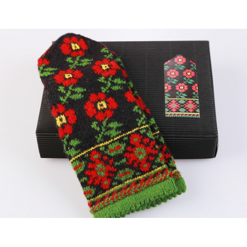 "Latvian Mittens DIY Knitting Kit ""Knit like a Latvian"" - Winter Flowers 11"