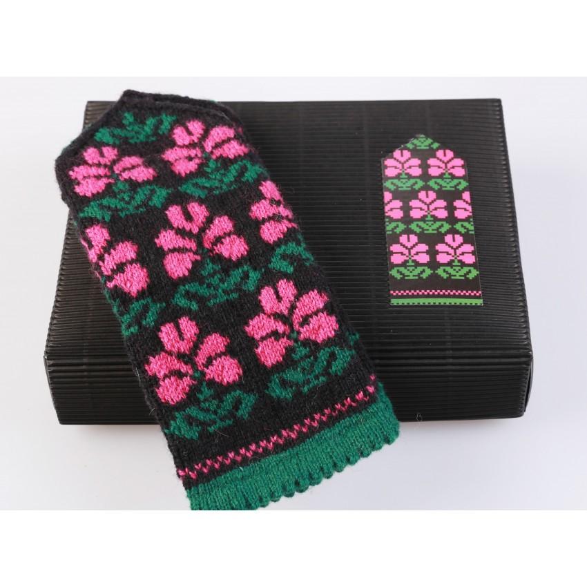"Latvian Mittens DIY Knitting Kit ""Knit like a Latvian"" - Winter Flowers 2"