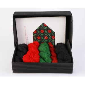 "Latvian Mittens DIY Knitting Kit ""Knit like a Latvian"" - Winter Flowers 3"