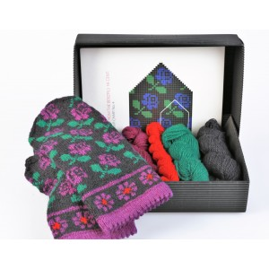 "Latvian Mittens DIY Knitting Kit ""Knit like a Latvian"" - Winter Flowers 4"