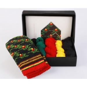 "Latvian Mittens DIY Knitting Kit ""Knit like a Latvian"" - Winter Flowers 5"