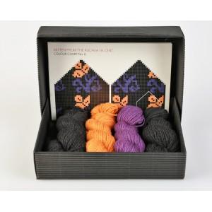"Latvian Mittens DIY Knitting Kit ""Knit like a Latvian"" - Winter Flowers 6"