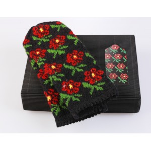 "Latvian Mittens DIY Knitting Kit ""Knit like a Latvian"" - Winter Flowers 7"