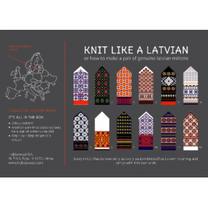 "Latvian Mittens DIY Knitting Kit ""Knit like a Latvian"" – Autumn Leaves 2"