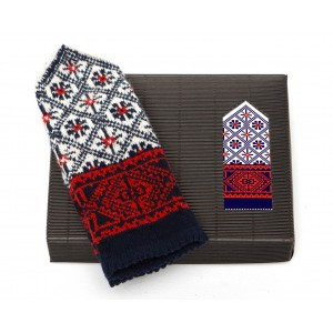 "Latvian Mittens DIY Knitting Kit ""Knit like a Latvian"" – Autumn Leaves 10"