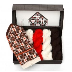 "Latvian Mittens DIY Knitting Kit ""Knit like a Latvian"" – Autumn Leaves 12"