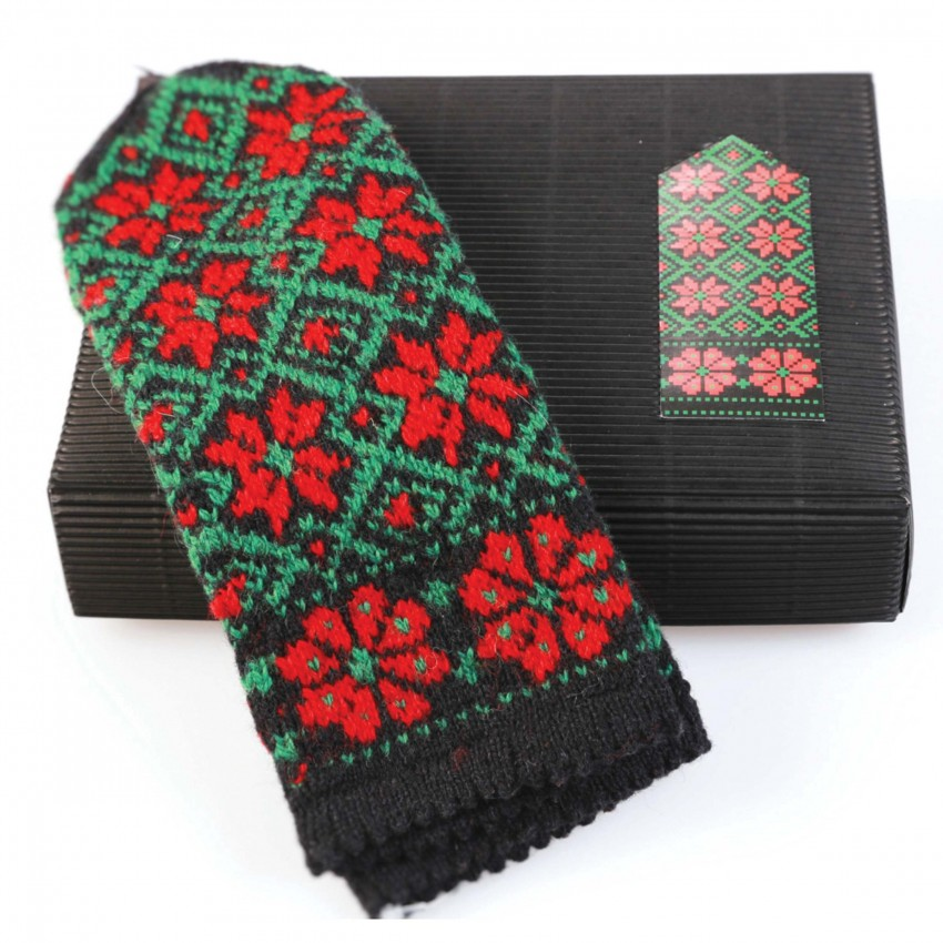 """Latvian Mitten DIY Knitting Kit """"Knit like a Latvian - Kurzeme 1"""