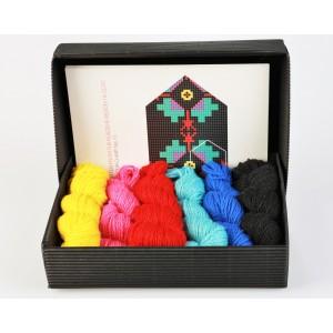 """Latvian Mitten DIY Knitting Kit """"Knit like a Latvian - Kurzeme 11"""