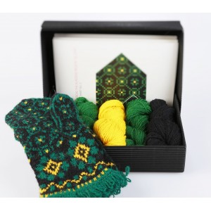 "Latvian Mitten DIY Knitting Kit ""Knit like a Latvian - Kurzeme 2"