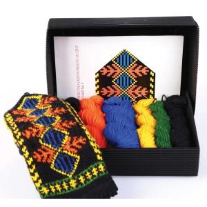 """Latvian Mitten DIY Knitting Kit """"Knit like a Latvian - Kurzeme 5"""