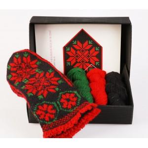 """Latvian Mitten DIY Knitting Kit """"Knit like a Latvian - Kurzeme 6"""