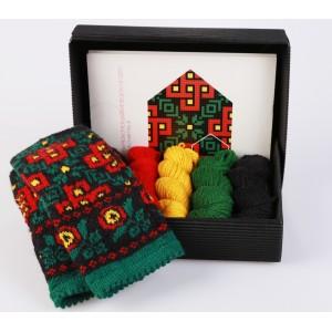 """Latvian Mitten DIY Knitting Kit """"Knit like a Latvian - Kurzeme 8"""