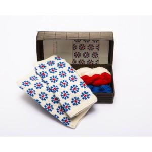 """Fingerless gloves DIY Knitting Kit """"Knit like a Latvian"""" – Springtime 12"""