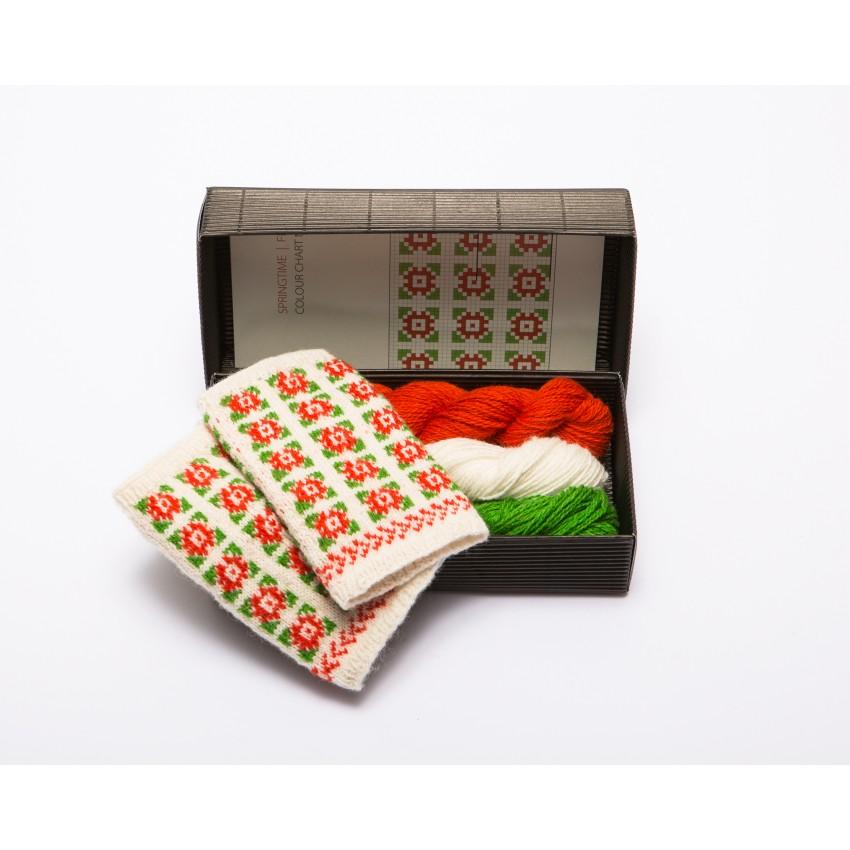 """Fingerless gloves DIY Knitting Kit """"Knit like a Latvian"""" – Springtime 8"""